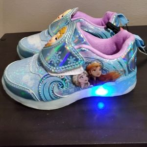 Girls light up frozen shoes size 9